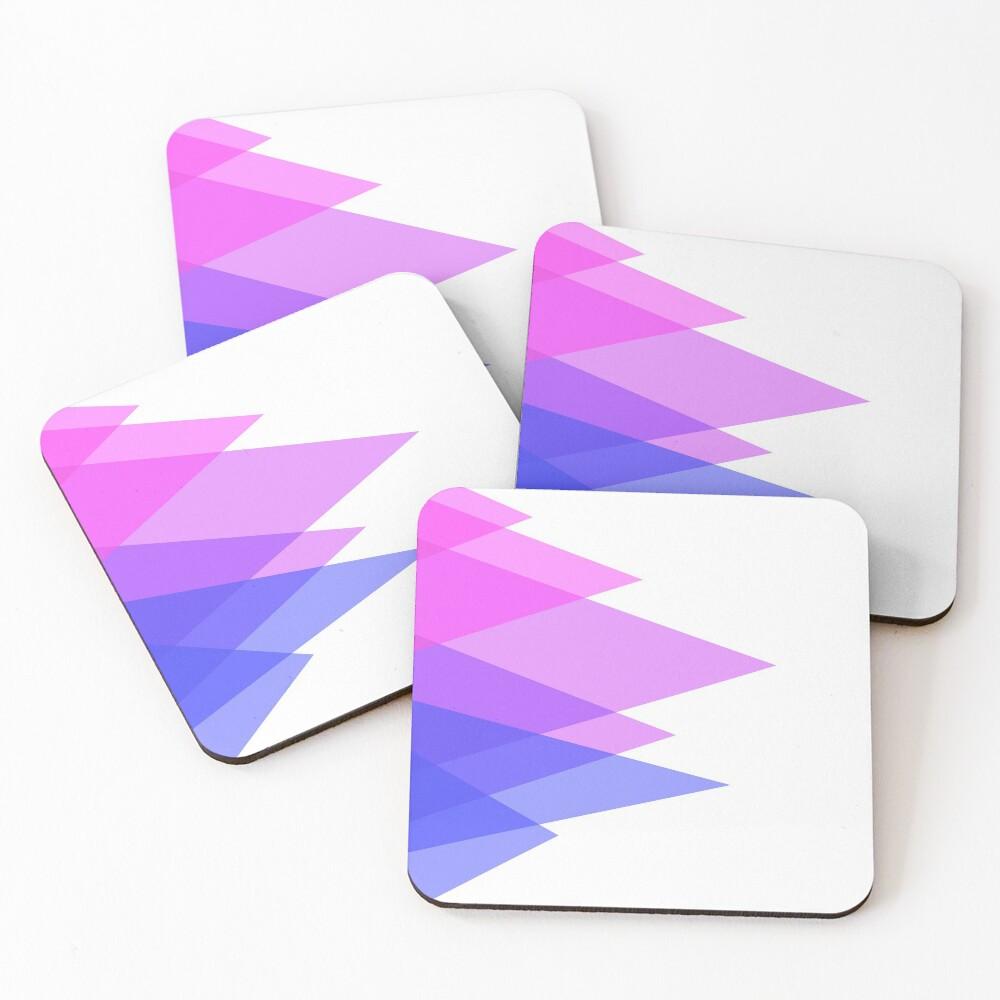 Triangles, Bi Coasters (Set of 4)