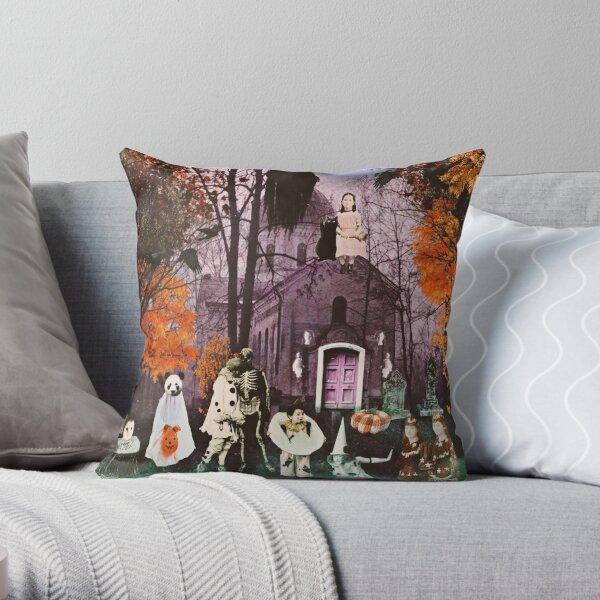 Spooksville Throw Pillow