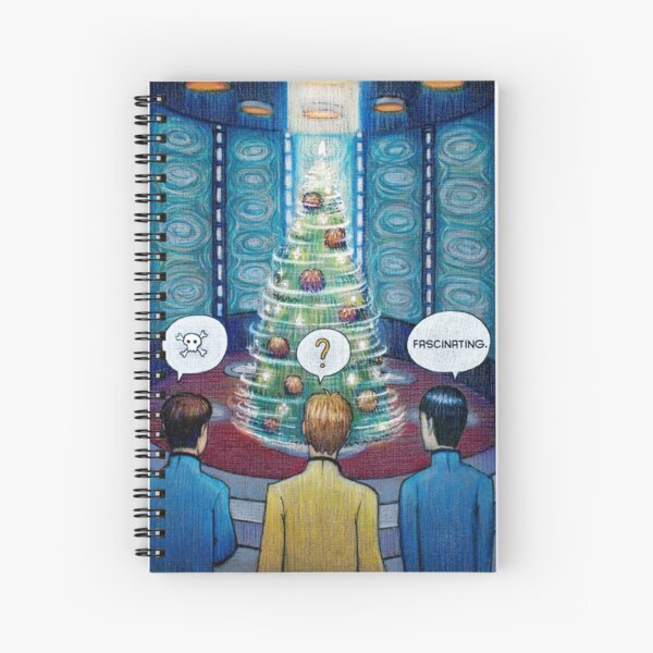 Star Trek Christmas Spiral Notebook
