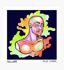 Blue Human Photographic Print