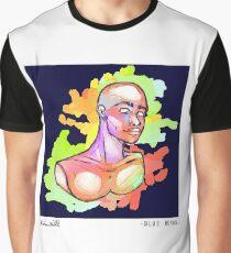 Blue Human Graphic T-Shirt