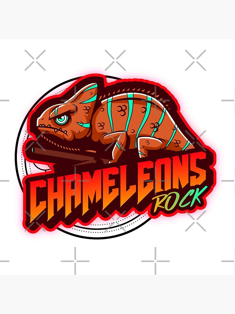 Chameleons Rock Colourful Bright by snibbo71