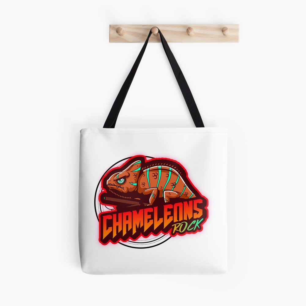 Chameleons Rock Colourful Bright Tote Bag
