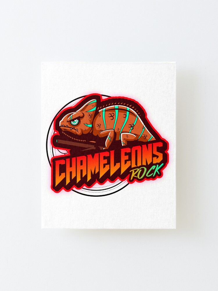 Alternate view of Chameleons Rock Colourful Bright Mounted Print