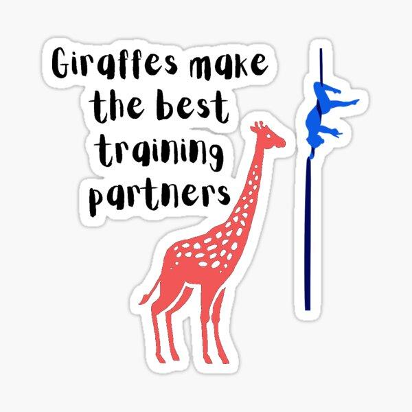 Aerial Silks Aerialist - Giraffe Friend Sticker
