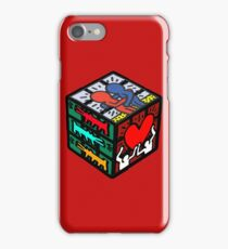 CUBE HARING iPhone Case/Skin