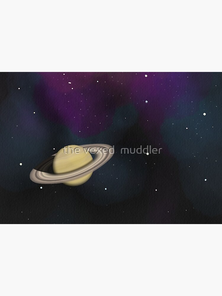 Saturn - Alien Ring Planet and Galaxy by thevexedmuddler