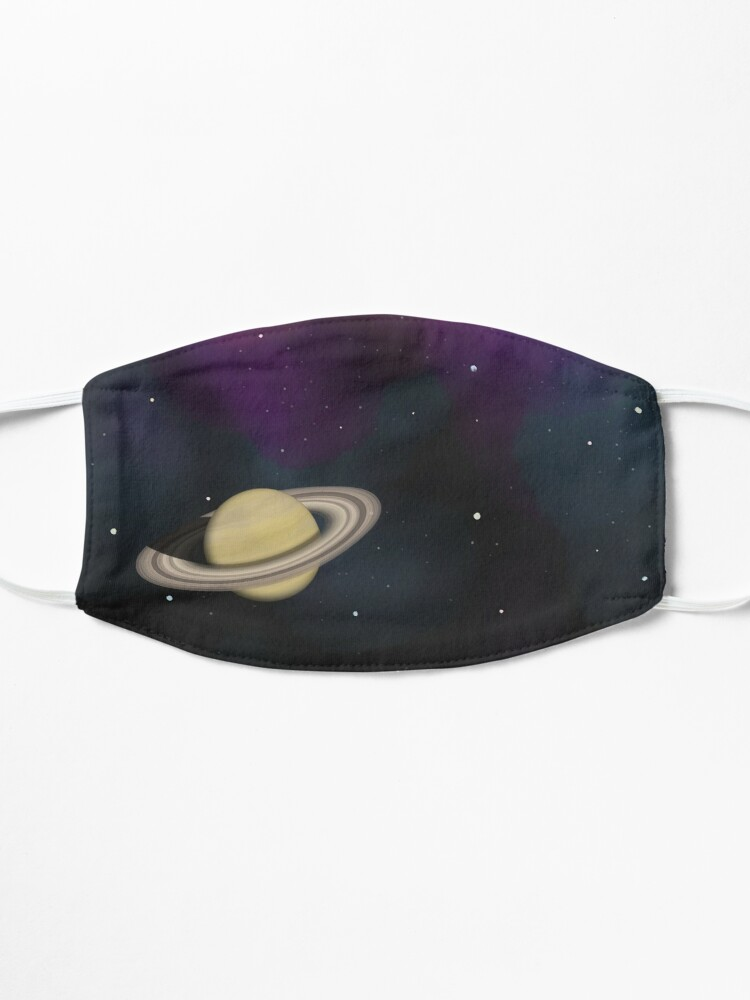 Alternate view of Saturn - Alien Ring Planet and Galaxy Mask