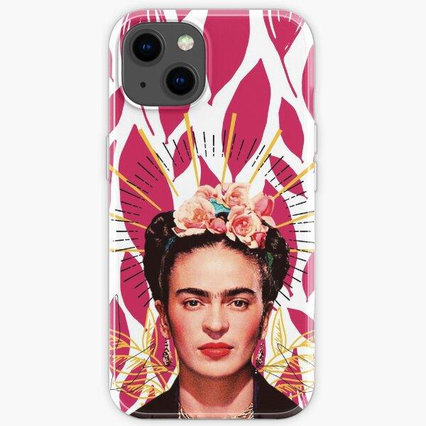 Imprimé Frida Kahlo, fleurs colorées Coque souple iPhone