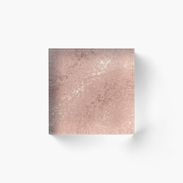 Rose Gold Goddess Acrylic Block