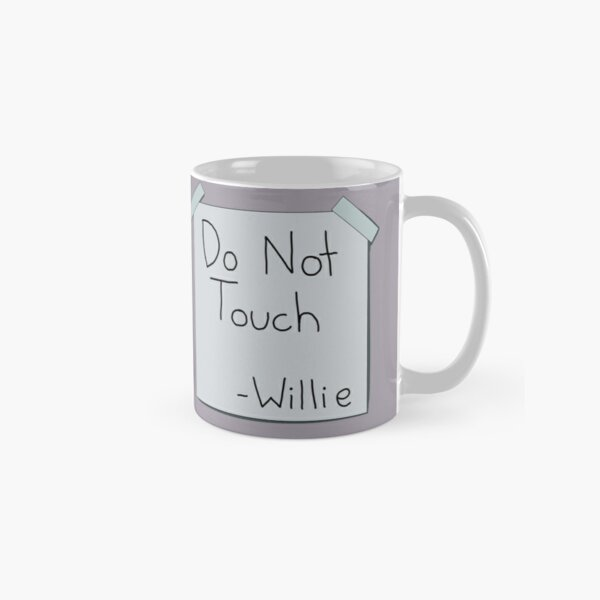 Do Not Touch Willie The Simpsons  Classic Mug