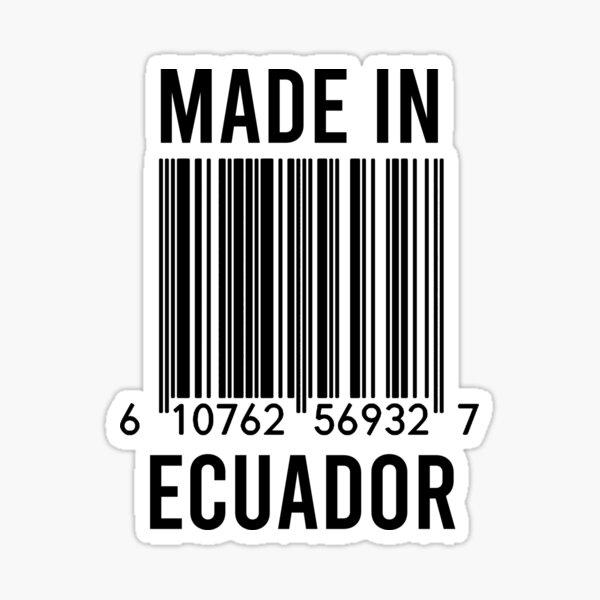 Hecho en Ecuador Pegatina