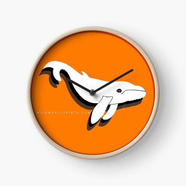 Wild Whale prints Clock