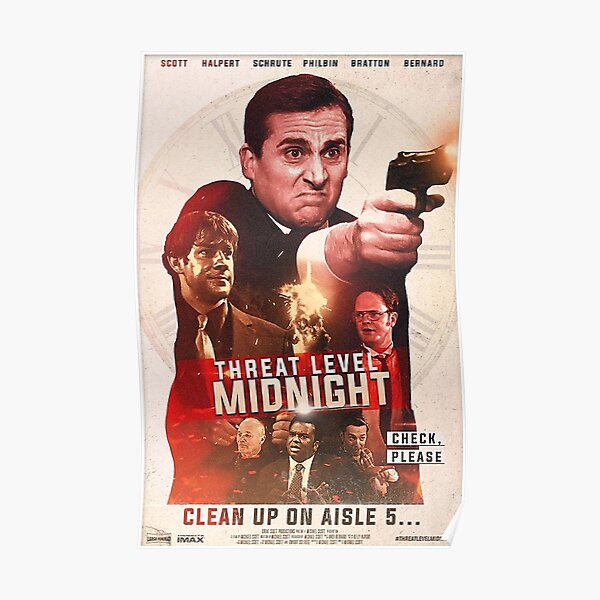 Clean up on threat level midnight aisle five Poster