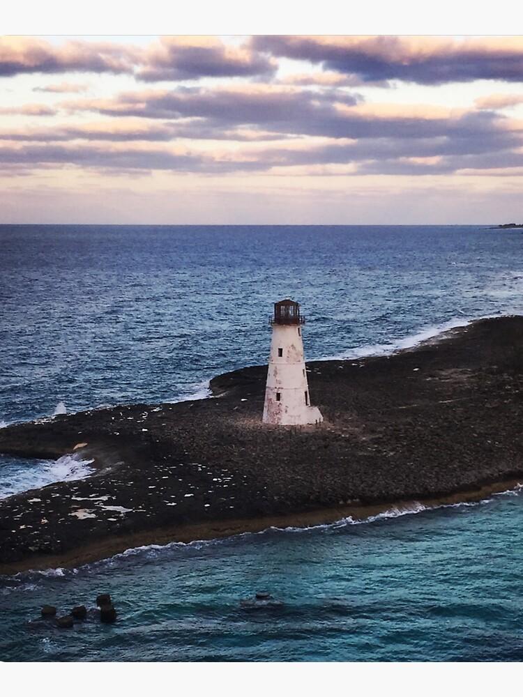 Lighthouse Ocean Paradise Island Nassau Bahamas Original Photo Art by kgerstorff
