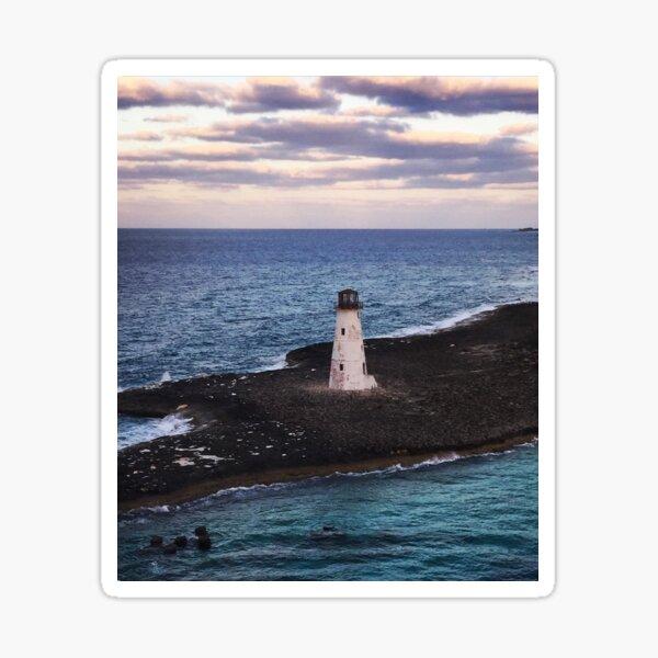 Lighthouse Ocean Paradise Island Nassau Bahamas Original Photo Art Sticker