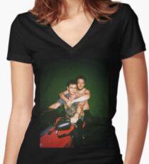 Seth Rogen and James Franco Women's Fitted V-Neck T-Shirt