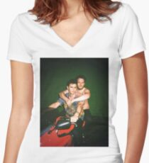 Seth Rogen and James Franco Women's Fitted V-Neck T-Shirt