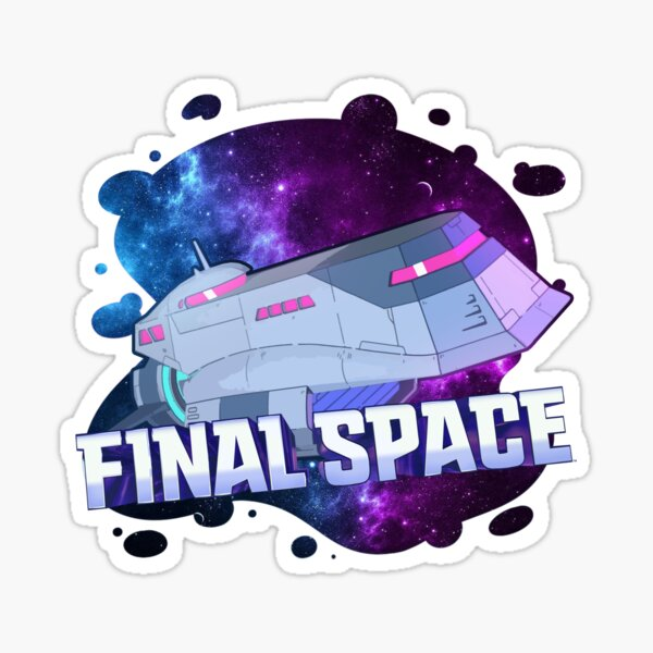 Final Space spaceship design. Birthday party gifts. Officially licensed merch. Sticker