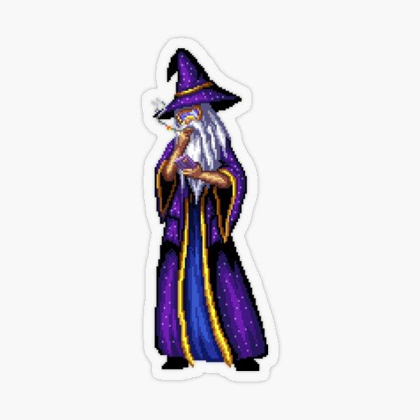 Smoke Break Wizard Transparent Sticker