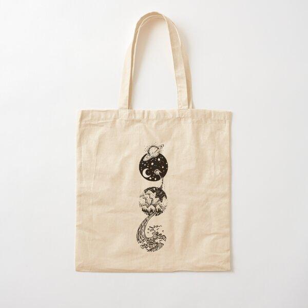 Star Dust to Sea Foam Cotton Tote Bag