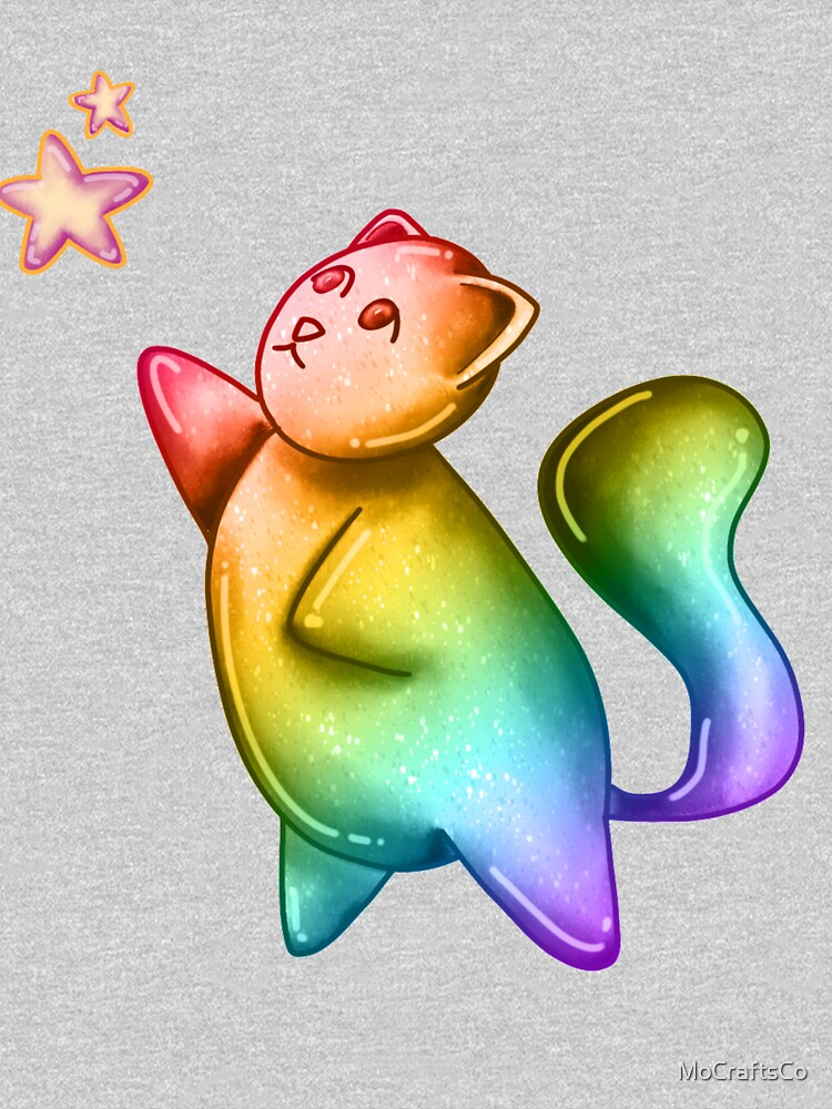 Bubble Cat, Rainbow Galaxy Bubble Cat, Reach For The Stars by MoCraftsCo