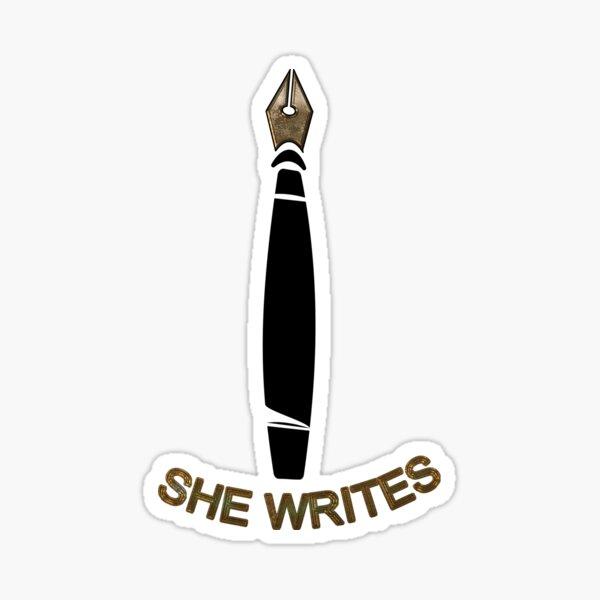 She Writes Logo Sticker
