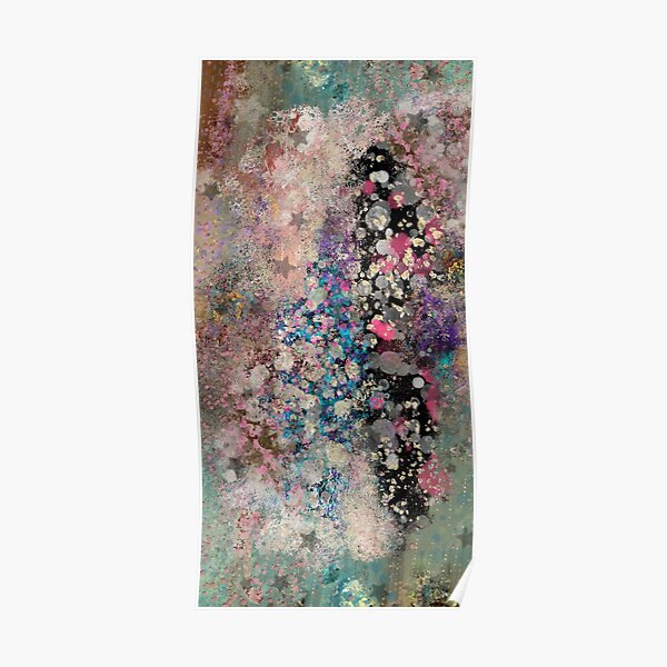 Abstract Painting 110820. 3, Painted Galaxy  Poster