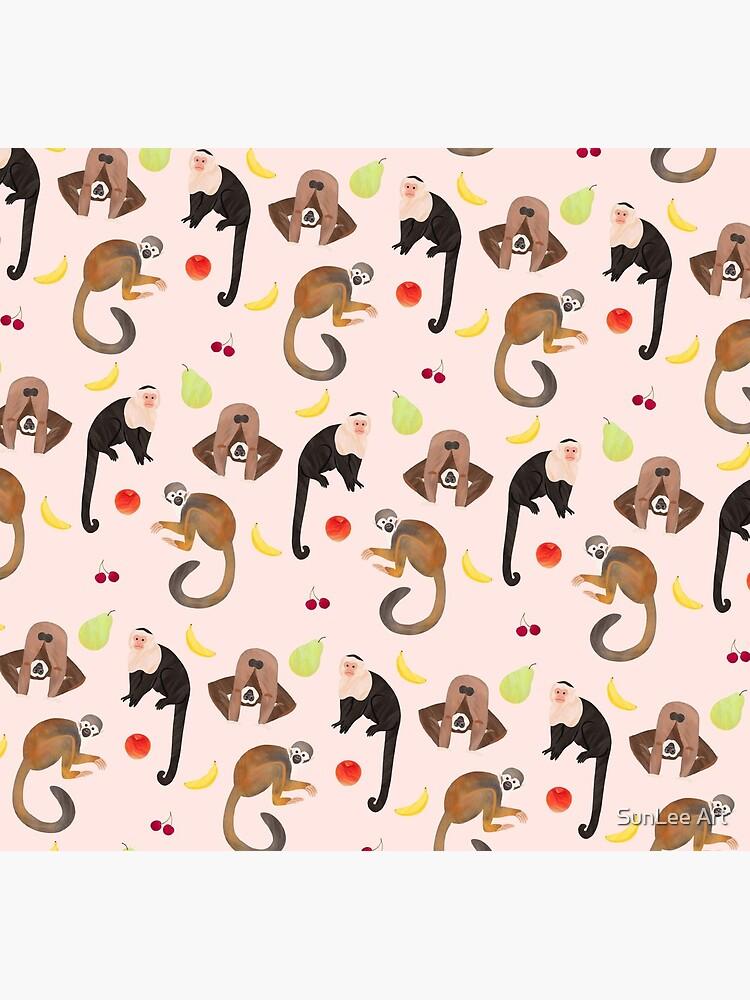 Monkeys & Fruits by sunleeart