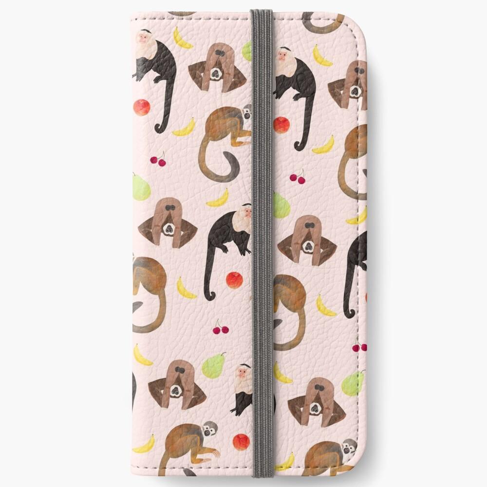 Monkeys & Fruits iPhone Wallet