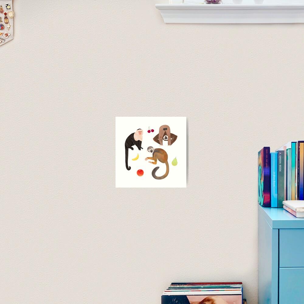 Monkeys & Fruits Art Print