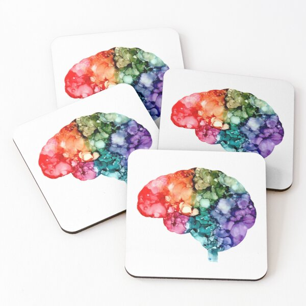 Anatomy - Brain (Chroma) Coasters (Set of 4)