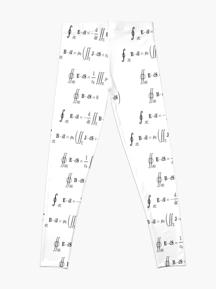 Alternate view of Maxwell's equations, #Maxwells, #equations, #MaxwellsEquations, Maxwell, equation, MaxwellEquations, #Physics, Electricity, Electrodynamics, Electromagnetism Leggings