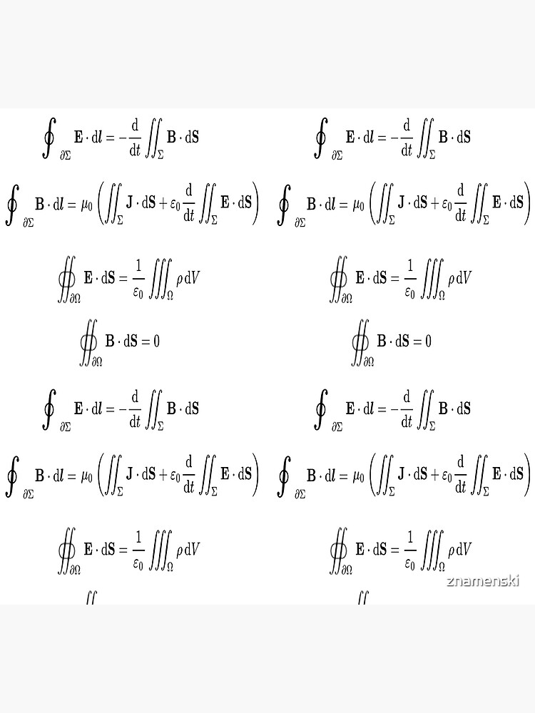 Maxwell's equations, #Maxwells, #equations, #MaxwellsEquations, Maxwell, equation, MaxwellEquations, #Physics, Electricity, Electrodynamics, Electromagnetism by znamenski