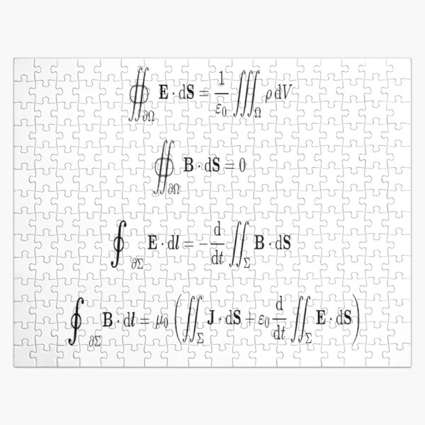 Maxwell's equations, #Maxwells, #equations, #MaxwellsEquations, Maxwell, equation, MaxwellEquations, #Physics, Electricity, Electrodynamics, Electromagnetism Jigsaw Puzzle