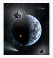An Earth-like planet made up of silicate-based rocks with oceans coating its surface. Photographic Print