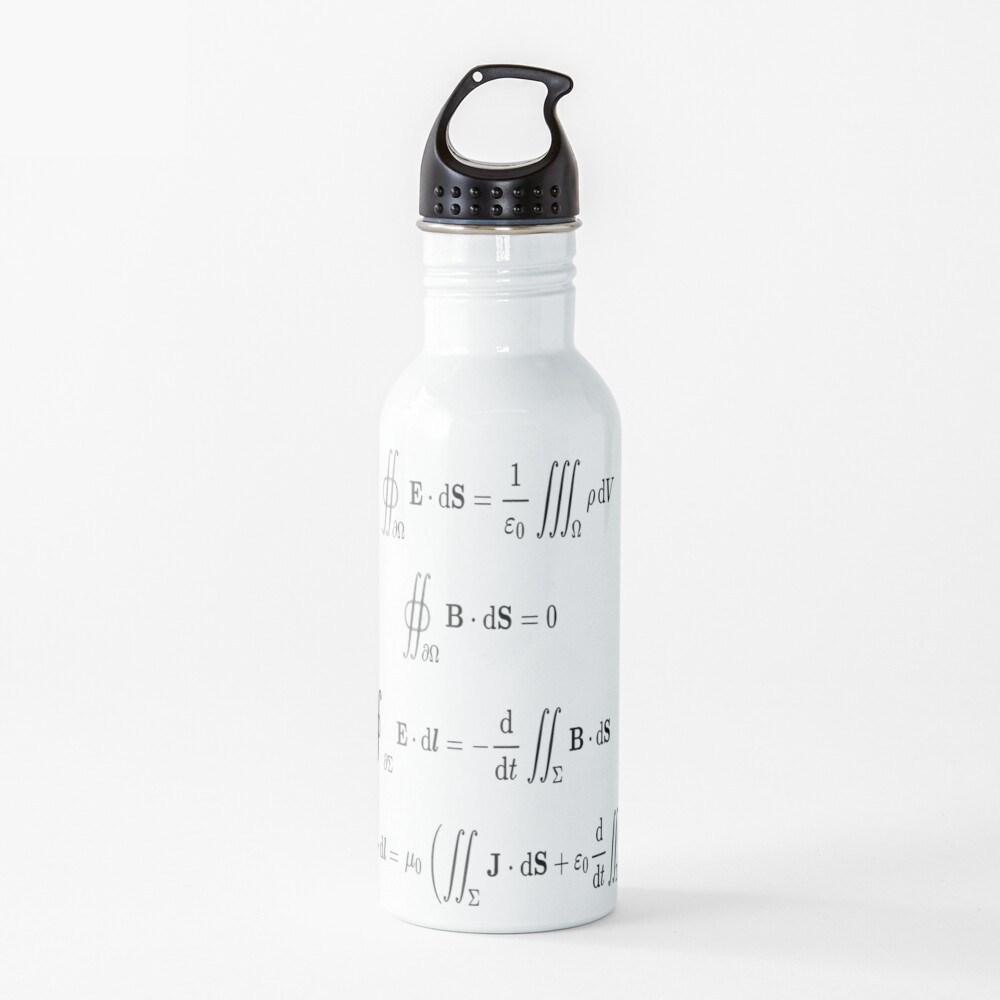 Maxwell's equations, #Maxwells, #equations, #MaxwellsEquations, Maxwell, equation, MaxwellEquations, #Physics, Electricity, Electrodynamics, Electromagnetism: Water Bottle