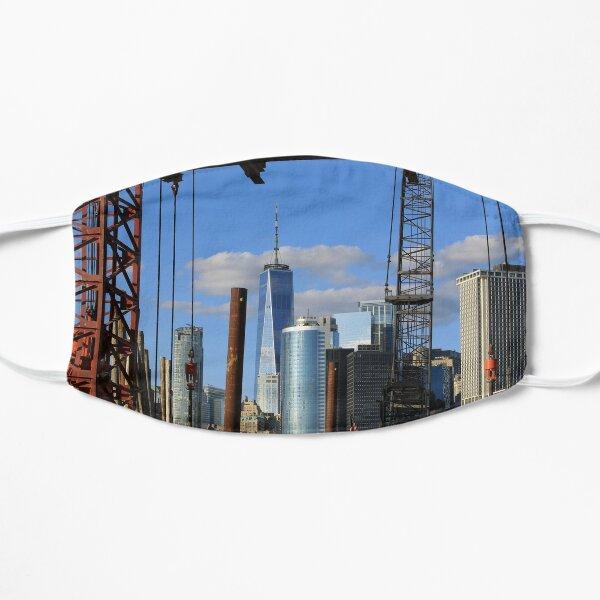 World Trade Center from ferry landing Flat Mask