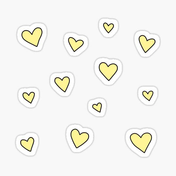 Corazones amarillos Pegatina