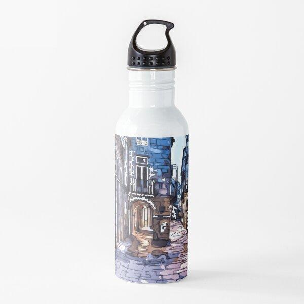 Santiago de Compostela, Calle do Vilar , ilustraciones de Galicia   Botella de agua