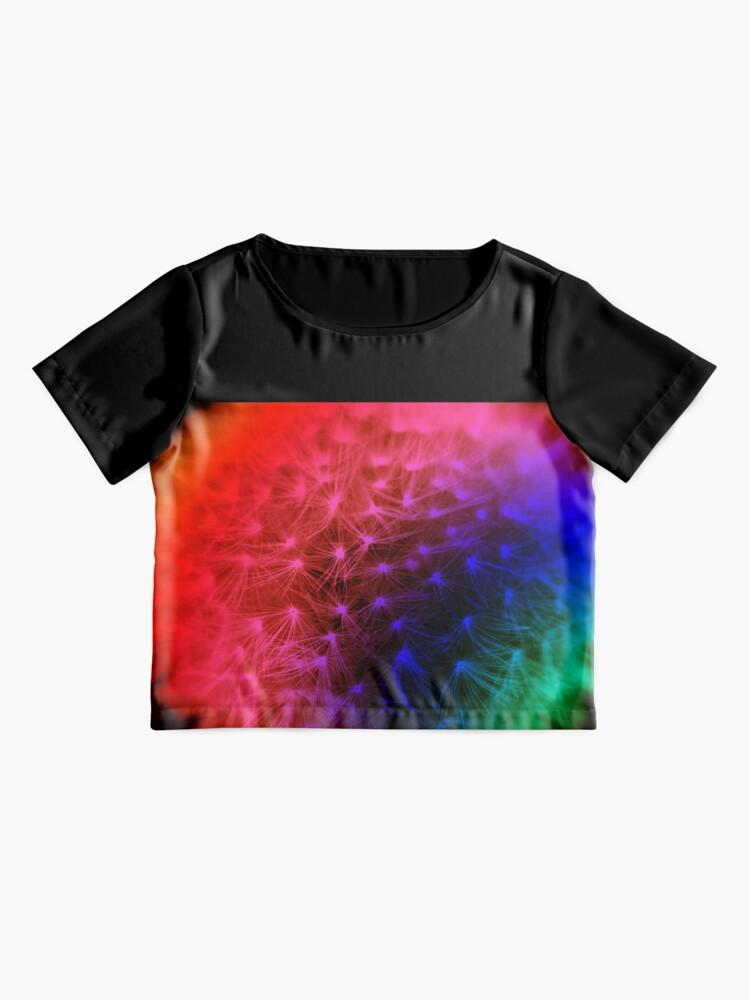 Alternate view of Rainbow Dandelion  Chiffon Top