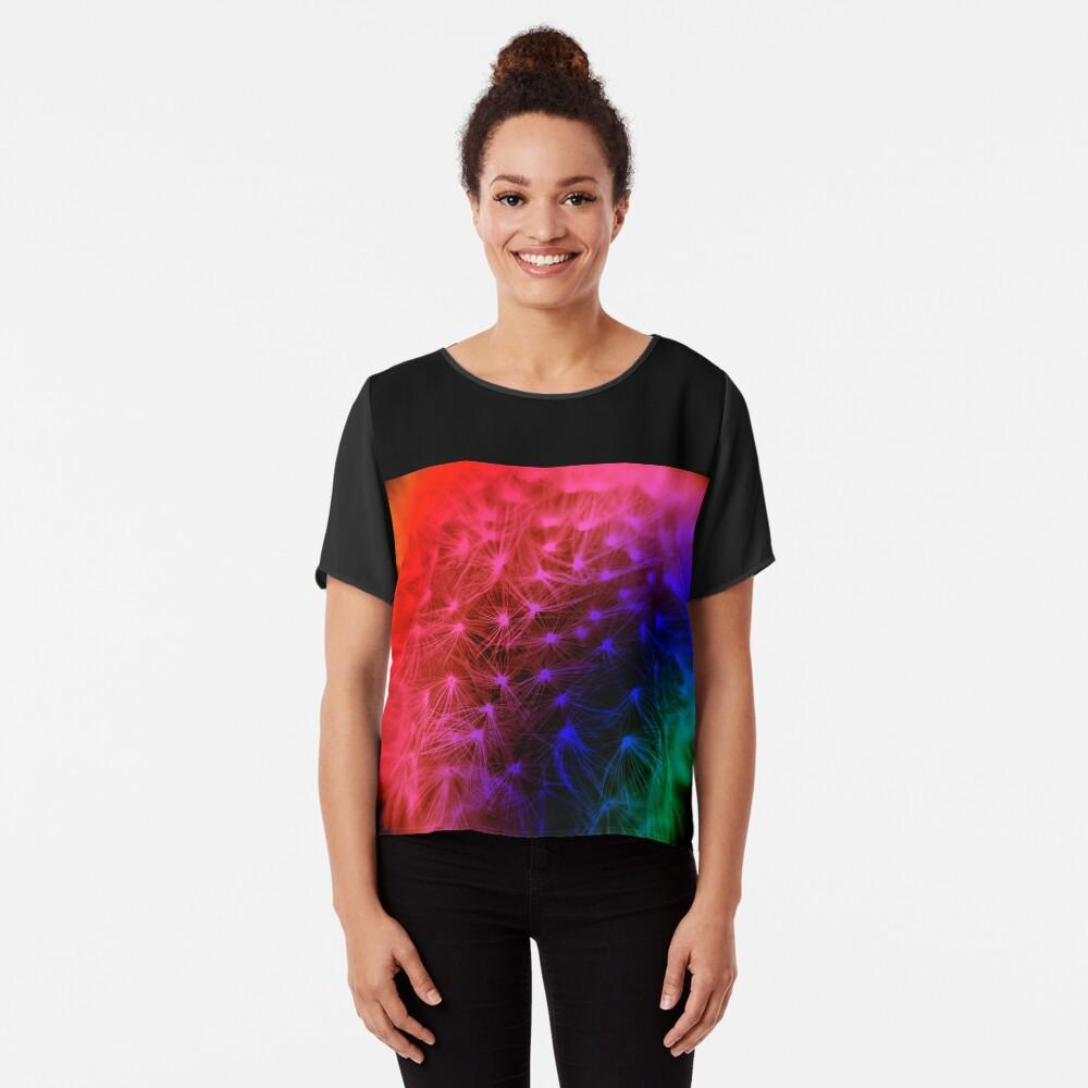 Rainbow Dandelion  Chiffon Top