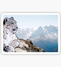 Snow Leopard Drawing Sticker