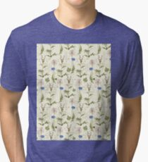 Seamless Background Wilding Poppy Tri-blend T-Shirt