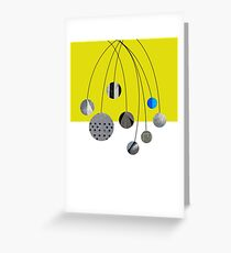 Cascading Orbits (Yellow) Greeting Card
