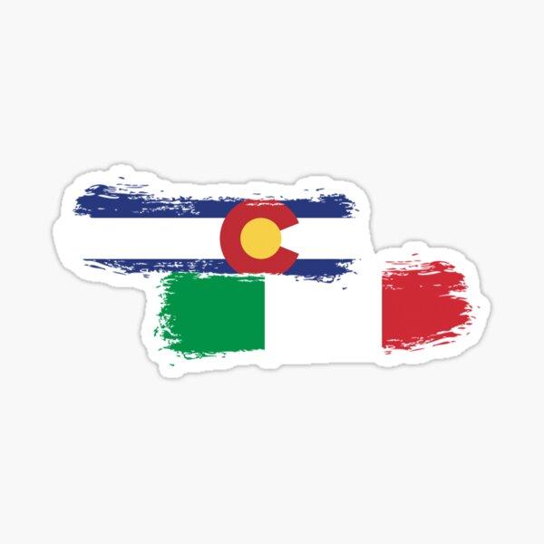 Colorado Italian Pride Paint Sticker