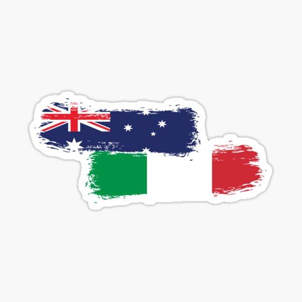 Italian Australian Pride Paint Sticker