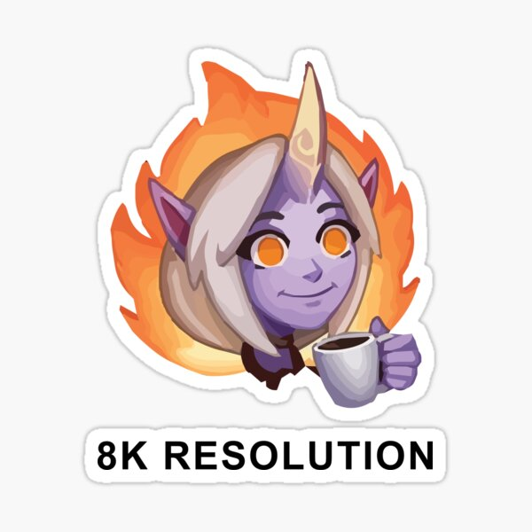 This Is Fine Emote - League of Legends Sticker