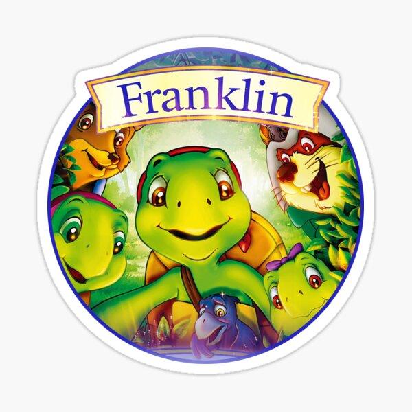 Couleur et Prénom au Choix * * 1 Sticker Franklin la tortue