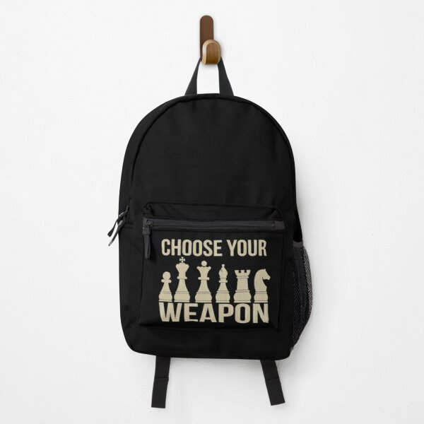 Choose Your Weapon Chess Backpack